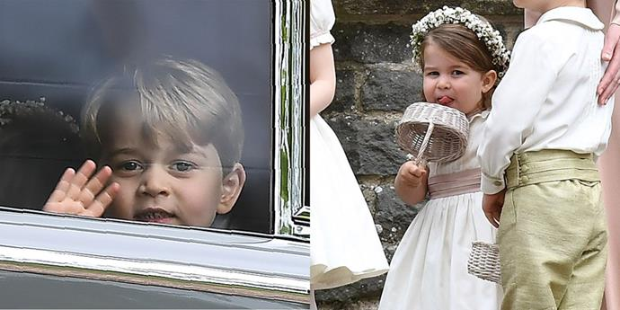 *ELLE* rounds up Prince George and Princess Charlotte's most adorable moments from Pippa Middleton's wedding.