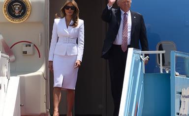 Watch Melania Trump Slap Away Donald Trump's Hand