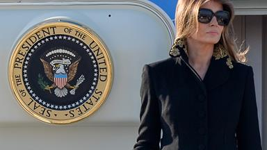 Melania Trump Avoids Her Husband's Hands A Second Time In Another Awkward Dodge