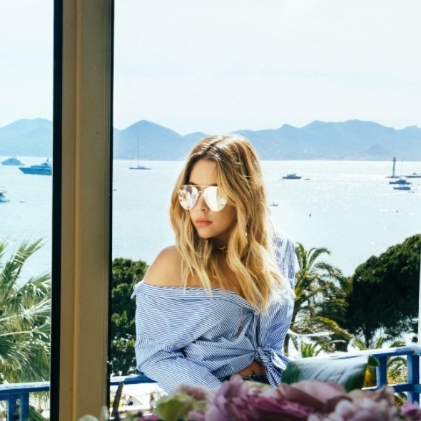 **Ashley Benson**<br><br> The *Pretty Little Liars* star is in Cannes for the Film Festival, but she's also getting some downtime in the sun.
