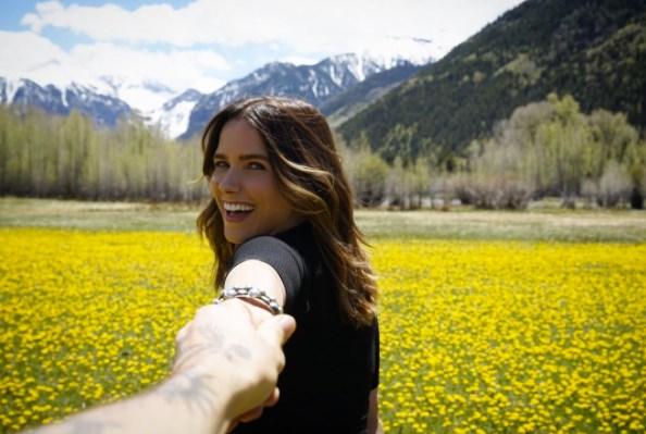 **Sophia Bush**<br><br> Sophia Bush is navigating sunflower fields in an undisclosed location.