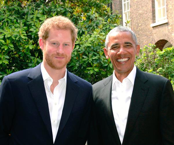 Prince Harry and Barack Obama