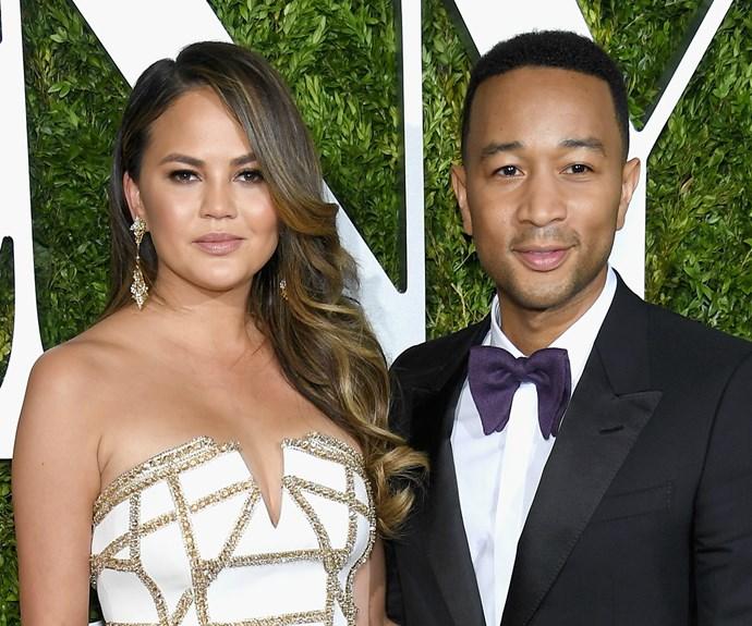 Chrissy Teigen and John Legend 2017 Tony Awards