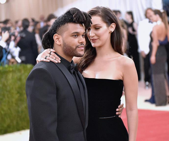 Bella Hadid and The Weeknd.