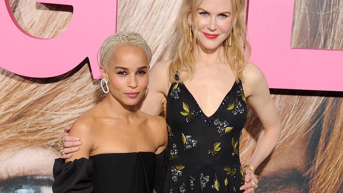 Zoe Kravitz and Nicole Kidman.