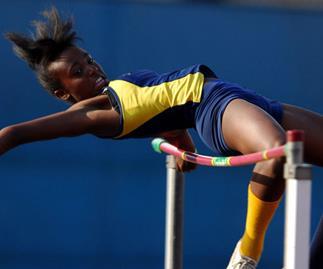 Girl jumping sport