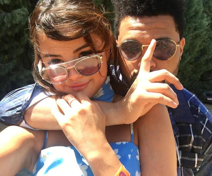 The Weeknd and Selena Gomez.