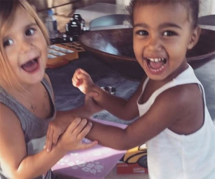 Penelope Disick and North West.