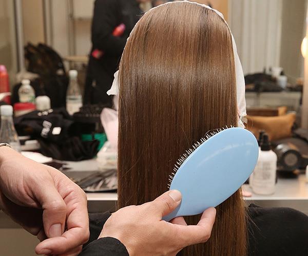 Natural bristle hairbrush