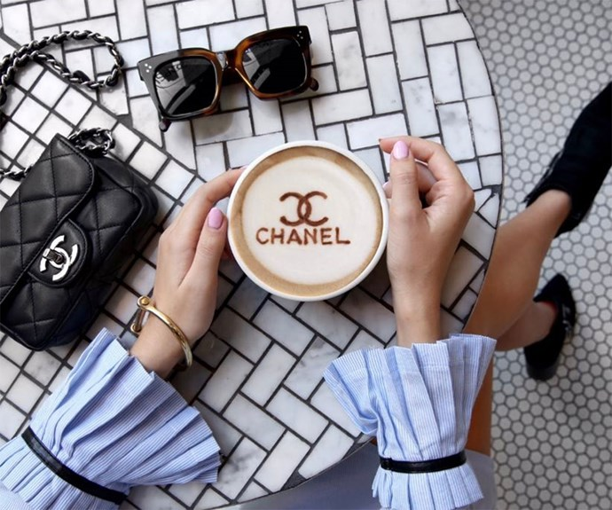 Chanel Designer Coffee Art