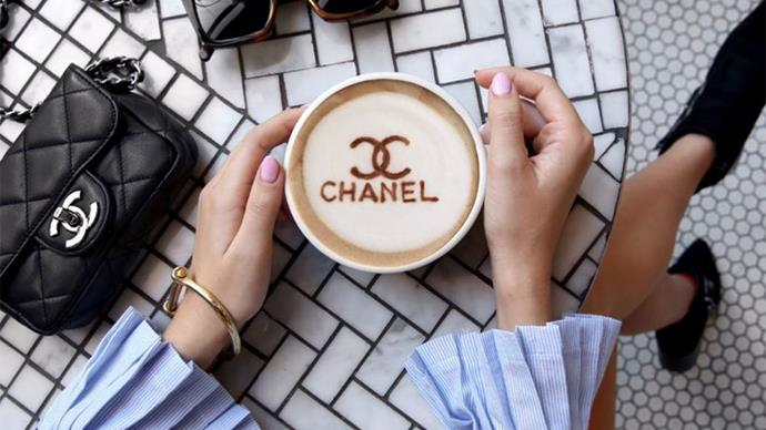 Chanel Designer Coffee Art