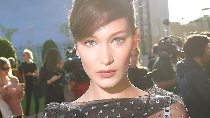 Bella Hadid Sheer Dior Dress