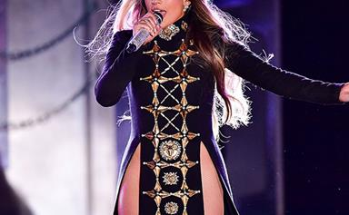 Fearless Queen Jennifer Lopez Performs Set In A Daring Double-Slit Dress