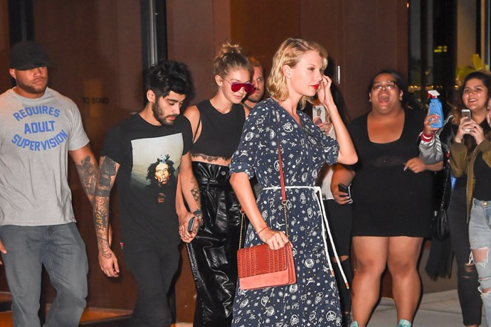 Zayn and Gigi took another relationship step in September 2016 and publicly hung out with one of the model's best friends, Taylor Swift.