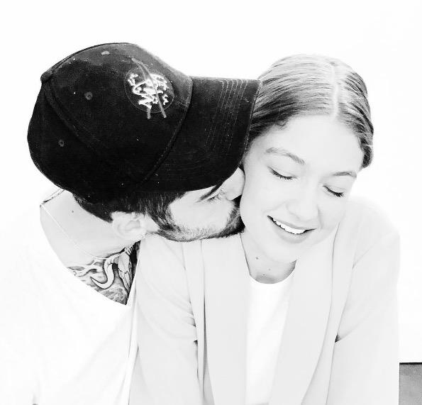 """Zayn posted this loving picture of him and Gigi on Instagram in honor of her birthday. """"Happy birthday to my everything ❤️,"""" he wrote."""