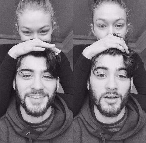 Zayn posted this adorable pair of selfies of the couple on Instagram.