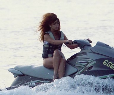 The Internet Is Losing Its Collective Mind Over Rihanna Riding A Jet Ski Cross-Legged