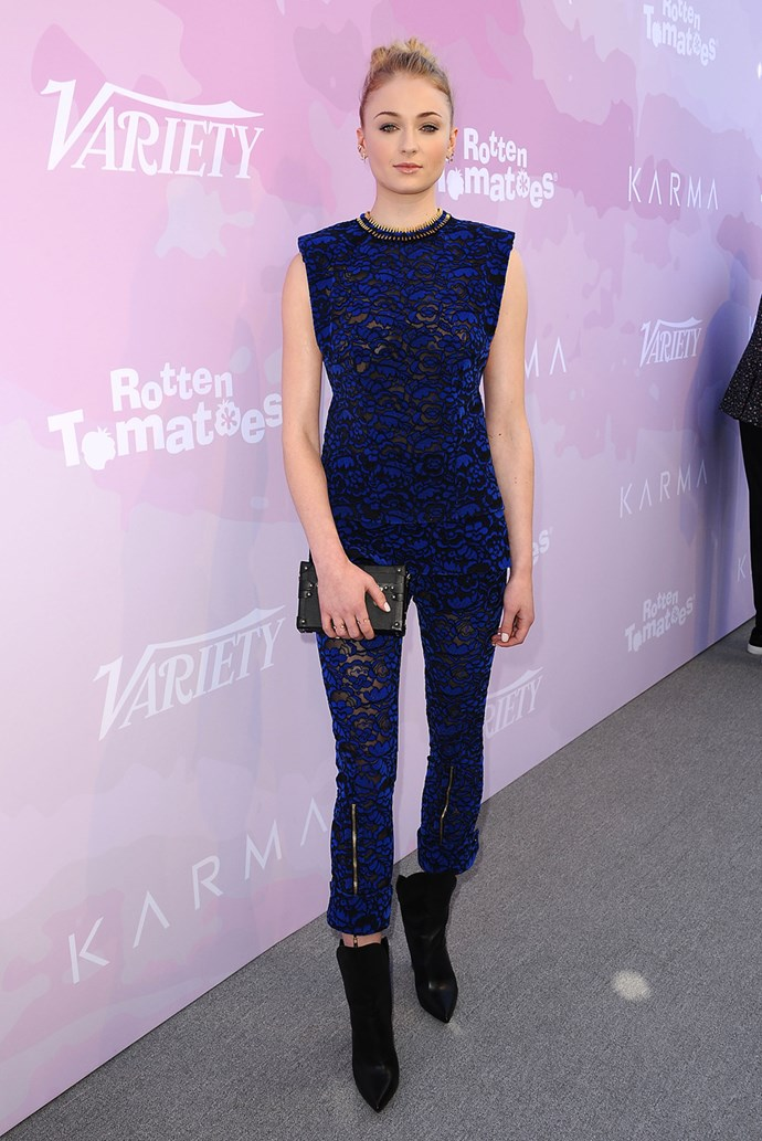 In head-to-toe Louis Vuitton at *Variety*'s Celebratory Lunch.