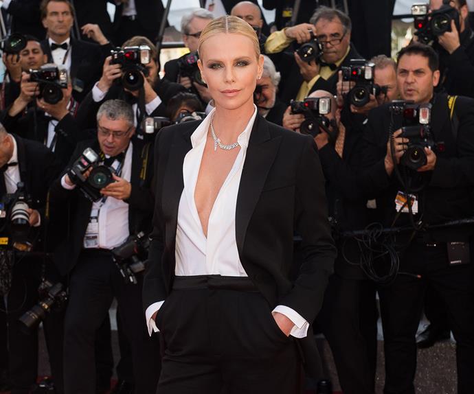 Charlize Theron as James Bond.