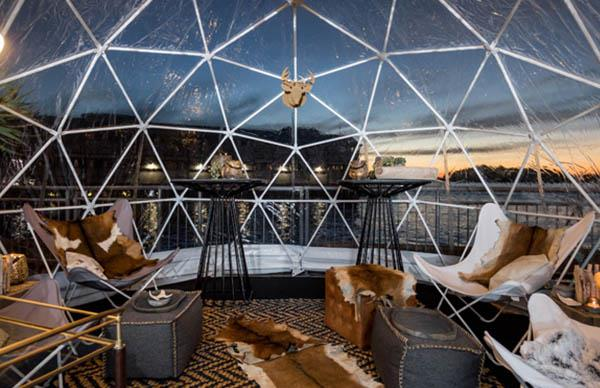 igloo bar pop up dome sydney harbour