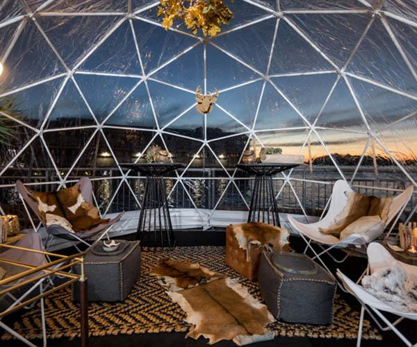 igloo bar pop up dome sydney harbour
