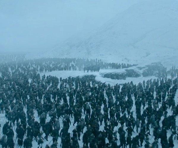 where is night king's army? slow journey
