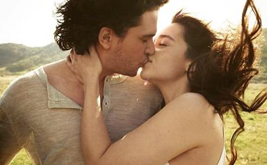 The Internet Is Losing Its Mind Over These Photos Of Kit Harington And Emilia Clarke Kissing