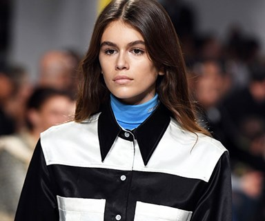 Kaia Gerber Makes Her Runway Debut At Calvin Klein