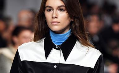 Kaia Gerber Makes Her Runway Debut At Calvin Klein