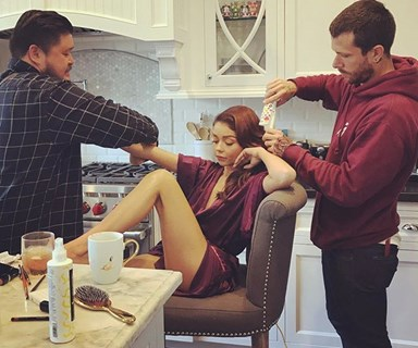The Best Celebrity Getting-Ready Instagrams From The 2017 Emmys