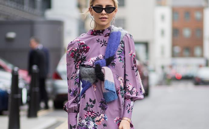 London Fashion Week street style.