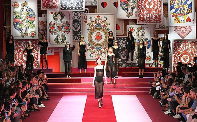 Front Row At Dolce & Gabbana