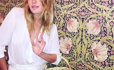 Harry Styles Holds His Girlfriend, Camille Rowe's, Bag, Single-Handedly Keeps Chivalry Alive