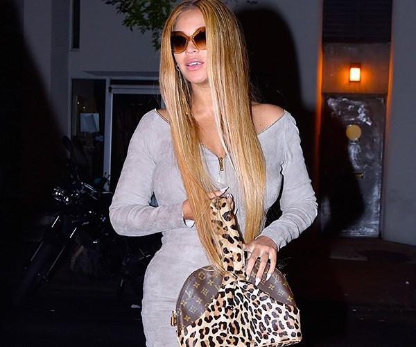 Beyonce Alaia leopard print bag October 2017