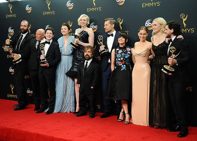 The cast of Game of Thrones at the Emmys.