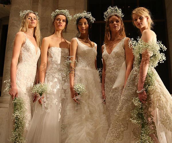 Bridal fashion week dresses