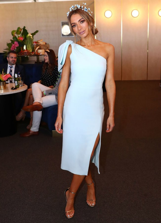 Nadia Bartel at Caulfield Guineas Day.