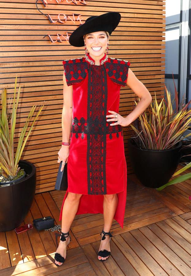 Ashley Hart at Caulfield Guineas Day.