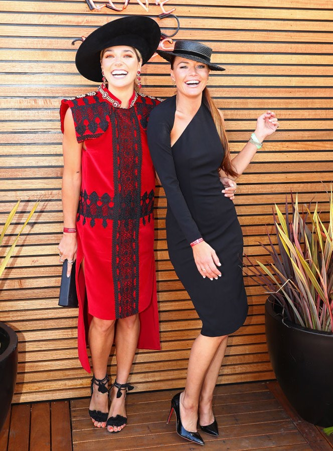 Ashley Hart and Kasia Z at Caulfield Guineas Day.
