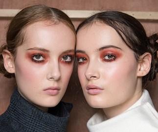 backstage models London Fashion Week