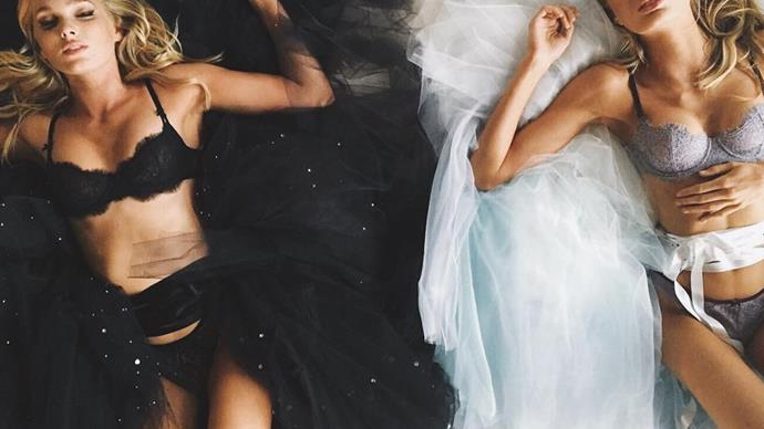 Elsa Hosk and Romee Strijd Sleeping