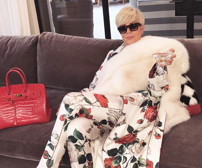 Blonde Kris Jenner.
