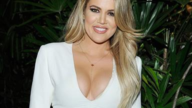Khloé Kardashian Ditches The Maybe-Baby Bump Cover-Up Props