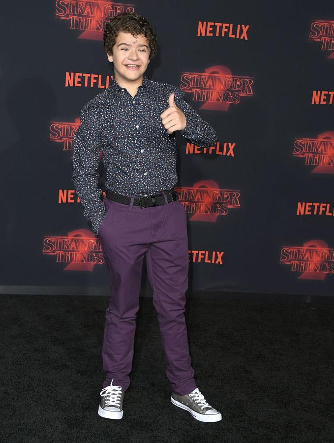 Gaten Matarazzo attends the 'Stranger Things' premiere.