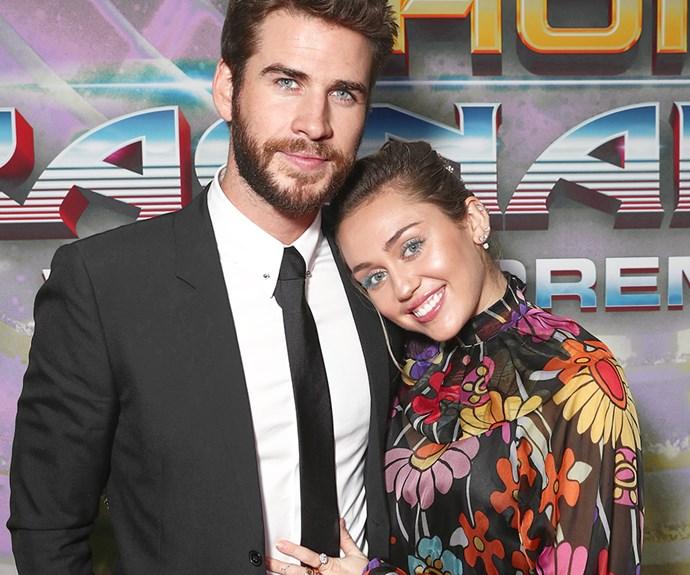 Miley Cyrus and Liam Hemsworth.