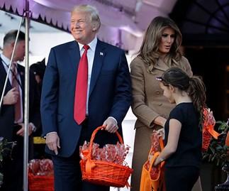 Donald Trump Melania Trump Halloween dionsaur