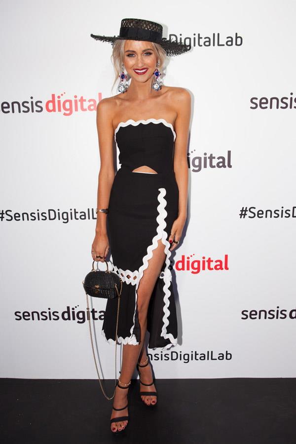 Sarah Czarnuch at the Sensis Digital Marquee on Derby Day.