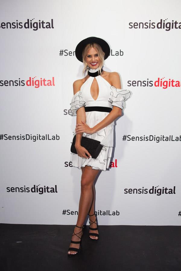 Natalie Roser at the Sensis Digital Marquee on Derby Day.
