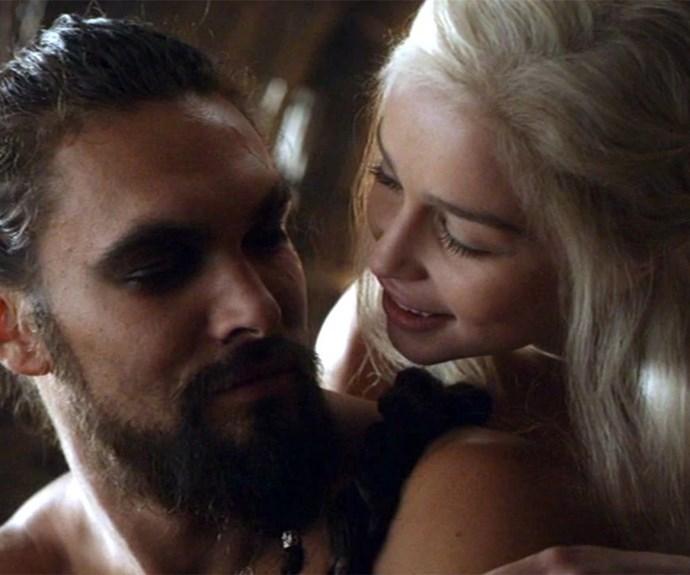 Khal Drogo and Daenerys Targaryen on Game of Thrones
