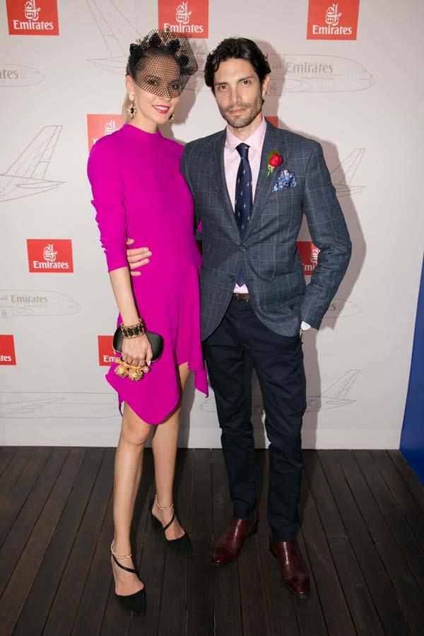 Dasha and Colin Gold at the Emirates Marquee, Emirates Stakes Day 2017.